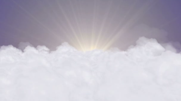 Clouds, Sun and Day Sky  Animation, Rendering, Background, Loop, 4k