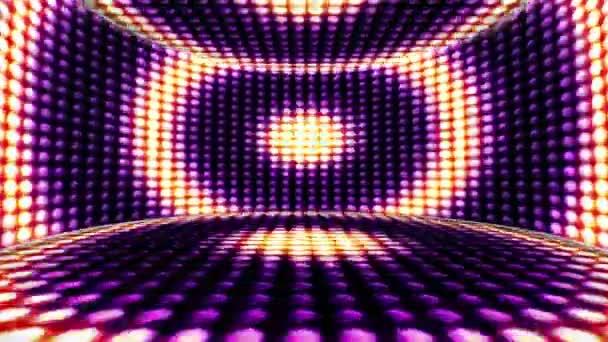 Kör izzó fények szoba animációs háttér renderelés, hurok, 4k