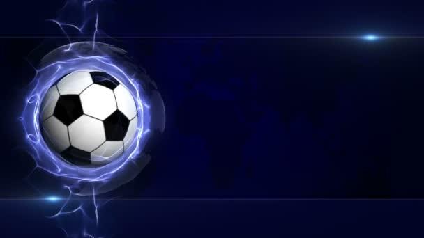 Pallone Da Calcio In Particelle Astratte Blu Anello Animazione