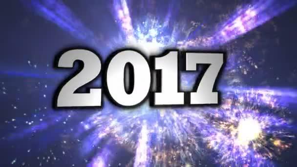 2017, nový rok čísel, smyčka, 4k