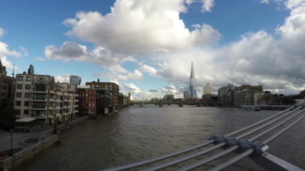 Řeka Temže, reálném čase, Blackfriars Bridge, Londýn, 4k