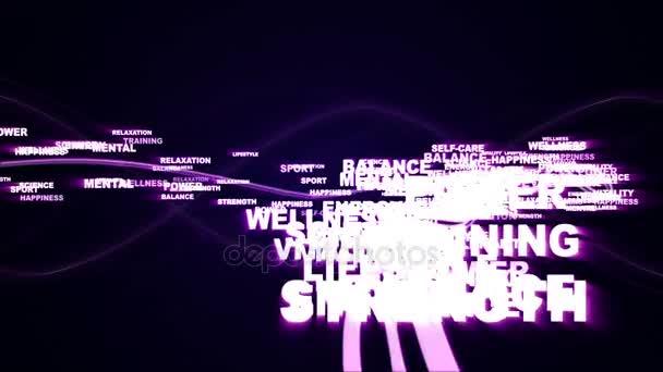 HEALTH Keywords, Background Overlays, Alpha Channel, Loop, 4k