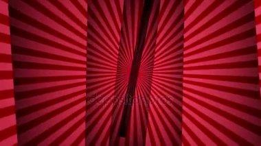 Red Sunburst és nyílt bárok animáció, alfa-csatorna, és a zöld képernyő visszaadás, háttér, 4k