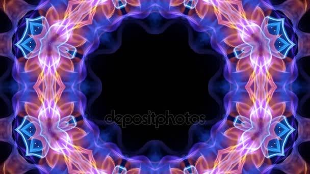 Abstraktní květina kaleidoskop technologie animace, pozadí, renderování, smyčky, 4k