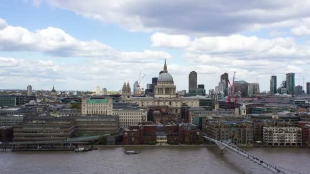 St. Pauls Cathedral, Temze-folyó idő telik el, London, hurok, 4k