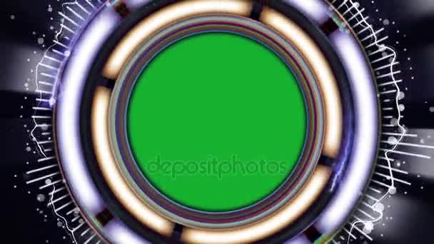 HUD spektra animace s zelenou obrazovkou, abstraktní technologický koncept, Sniper rozsah, renderování, pozadí, smyčky, 4k