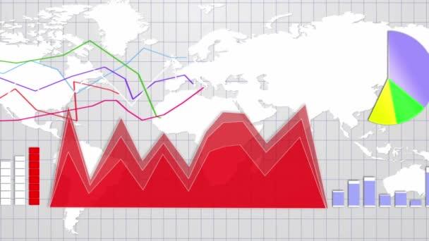 Obchodní zázemí, země, diagramy a grafy, animaci, renderování, smyčky, 4k