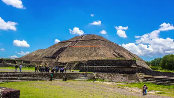 Teotihuacan, Mexico City, Ancient Mesoamerican Pyramids, Time Lapse, 4k