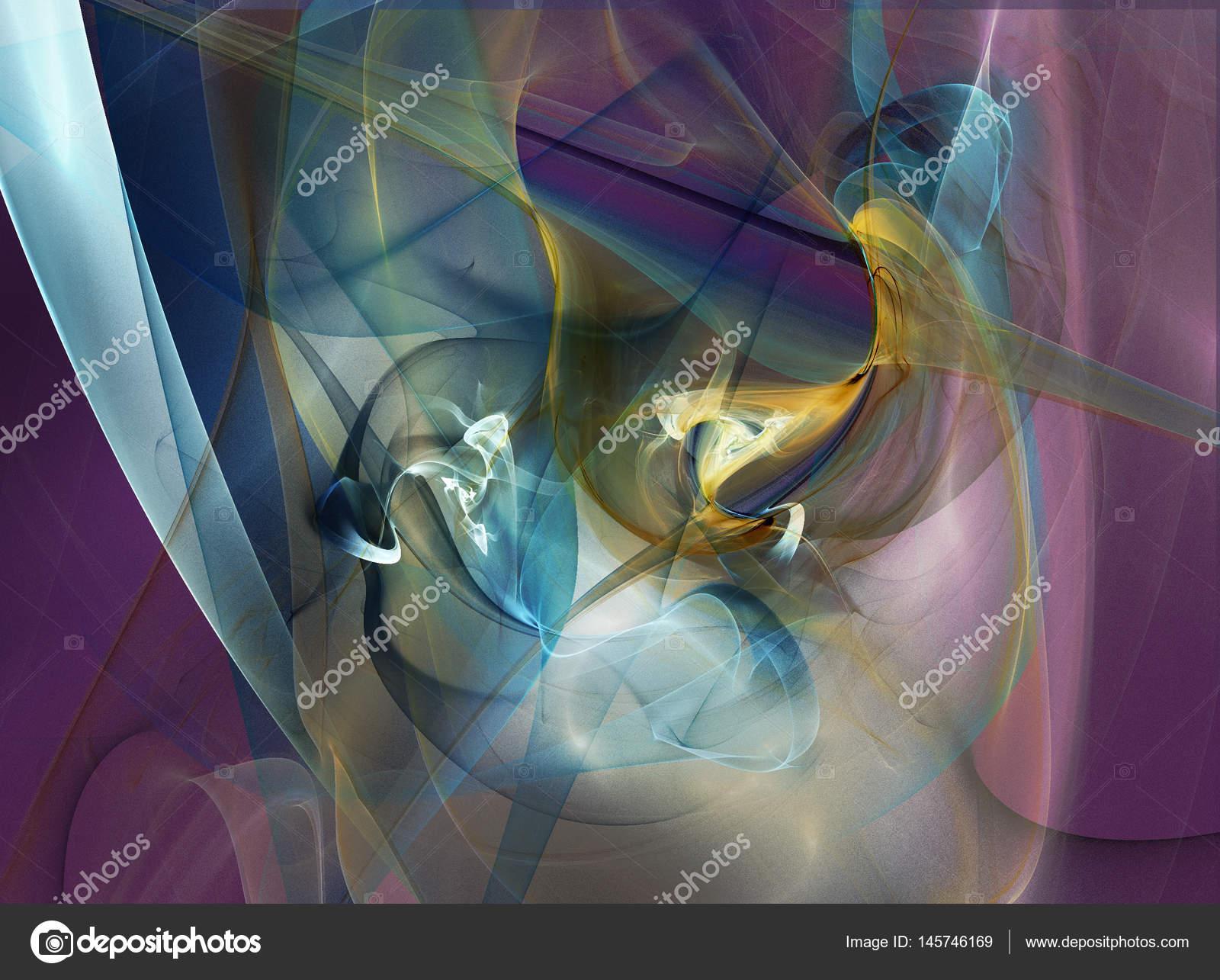 Fraktale Kunst für kreative grafische Gestaltung — Stockfoto ...