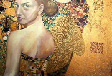 """Картина, постер, плакат, фотообои """"холст, масло, оригинальная живопись, портрет красивой девушки ."""", артикул 150230018"""