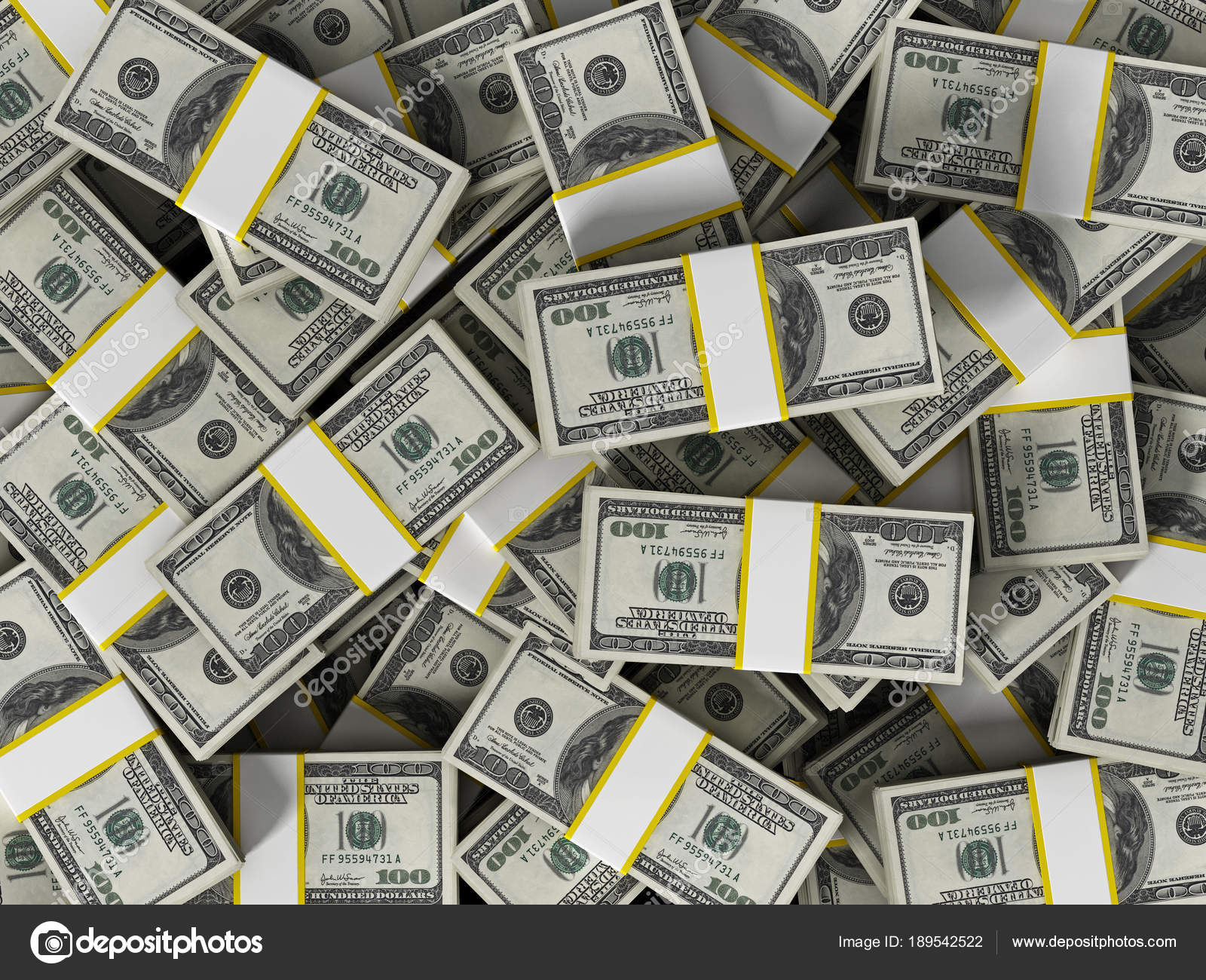 Dinero Dolares Mucho Dinero 100 Dólares Horizontal Mucho Fondo