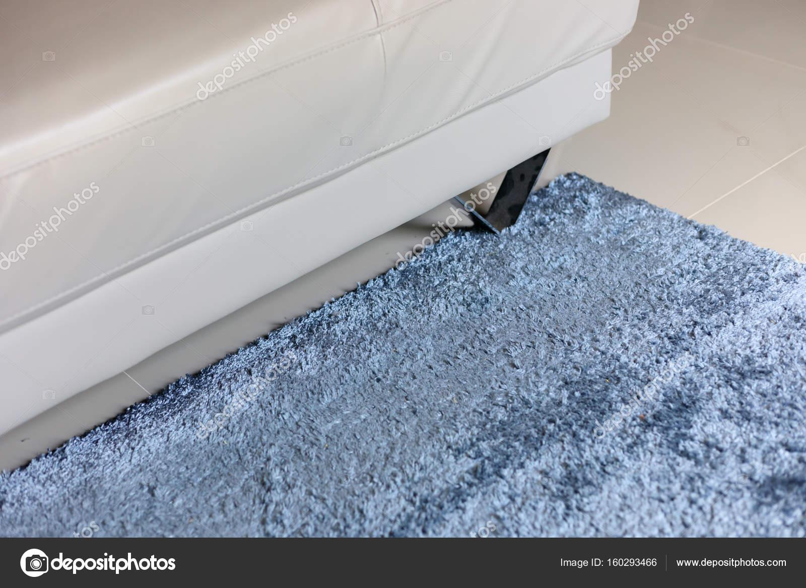 blauer Teppich Weichheit Textur Dekoration Boden innen Haus ...