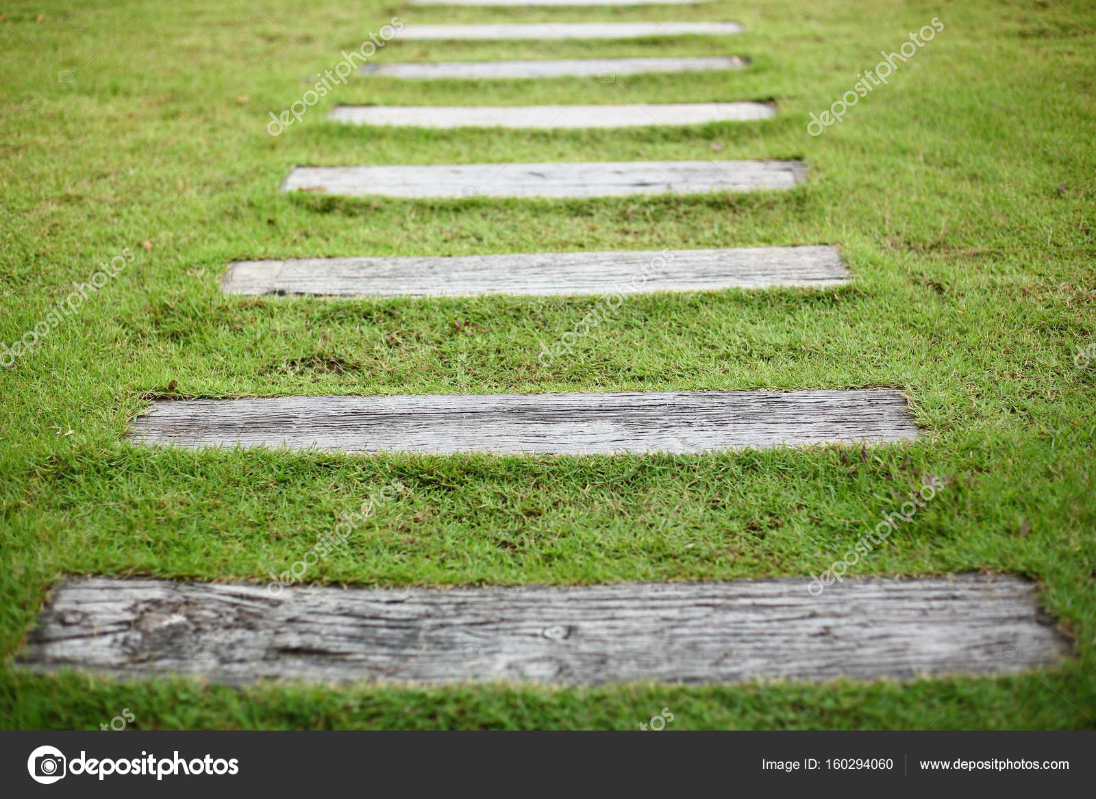 Pavimento camino jardin paso de pavimento camino de hormig n en jard n de la yarda delantera - Pavimento jardin ...
