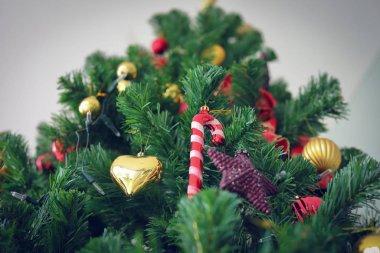 christmas ornament hanging decoration on fir tree