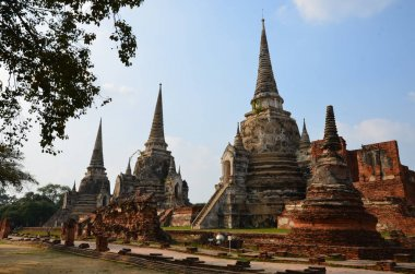 The three magnificent chedi of Wat Phra Si Sanphet in Ayutthaya