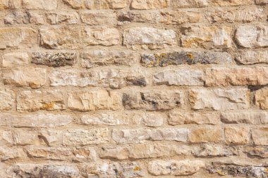 New limestone building wall full frame background close up