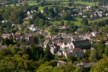View over Nailsworth valleys on the edge of the Cotswold Hills, Gloucestershire, UK