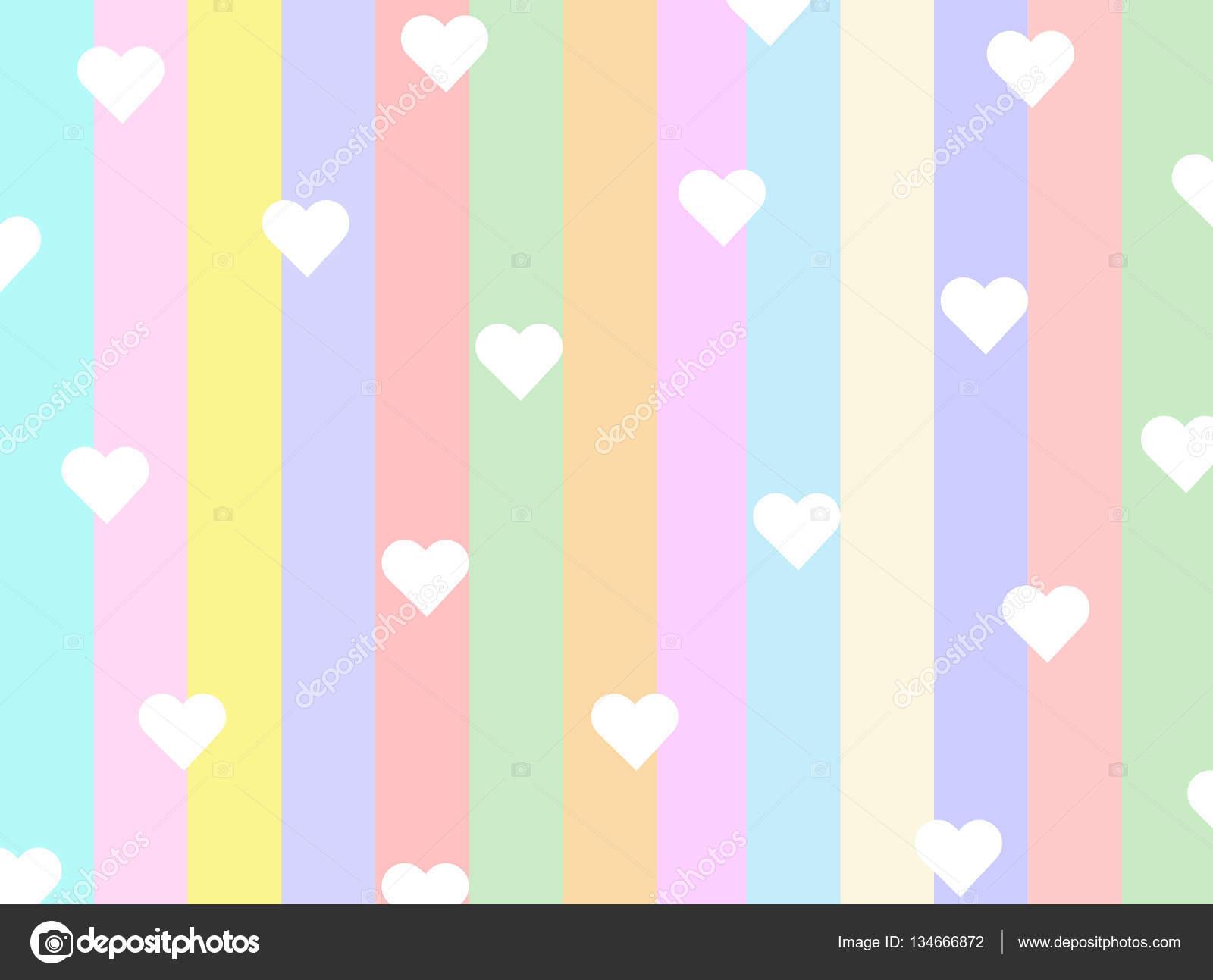 Fondos De Pantalla De Colores Pasteles Con Corazones