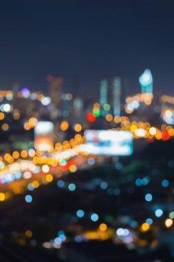 Abstract blurred bokeh city of Bangkok business downtown