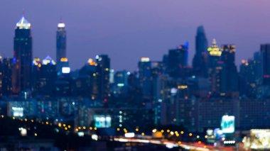 Night blurred bokeh city light