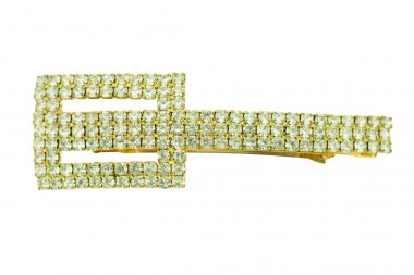 hairpin with diamonds on a white background
