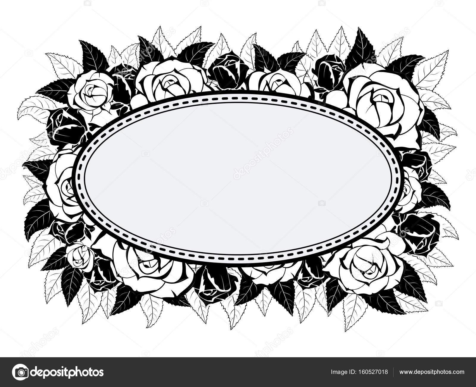 Rahmen für Gratulation mit Rosen — Stockvektor © Pavel.A.V. #160527018