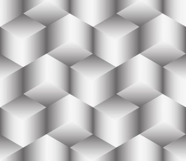 Abstract seamless illusion of cubes
