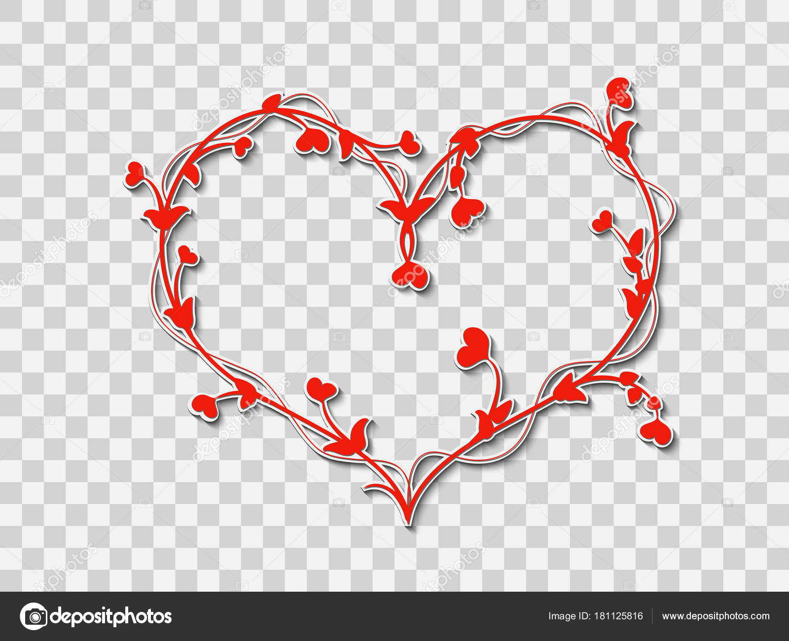 Corazón Rojo Sobre Un Fondo Transparente
