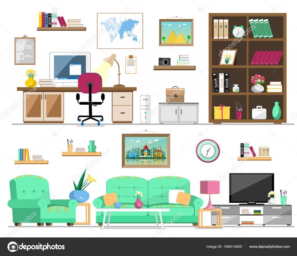 Plano conjunto de estilo de muebles para el hogar for Sillon para computadora precios