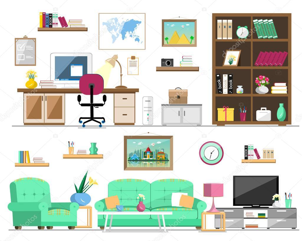 Plano conjunto de estilo de muebles para el hogar for Diseno de cantinas para el hogar