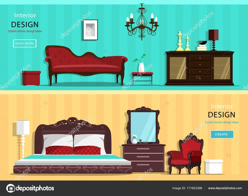 Set of vintage interior design house rooms with furniture ... Icons Design House Beds on bed lifters, bed texture, bed desktop, bed seat cushion, bed on beach, bed bolsters, bed people, bed queen, bed on stilts, bed cooler, bed bunker, bed railing, bed for disabled at home,