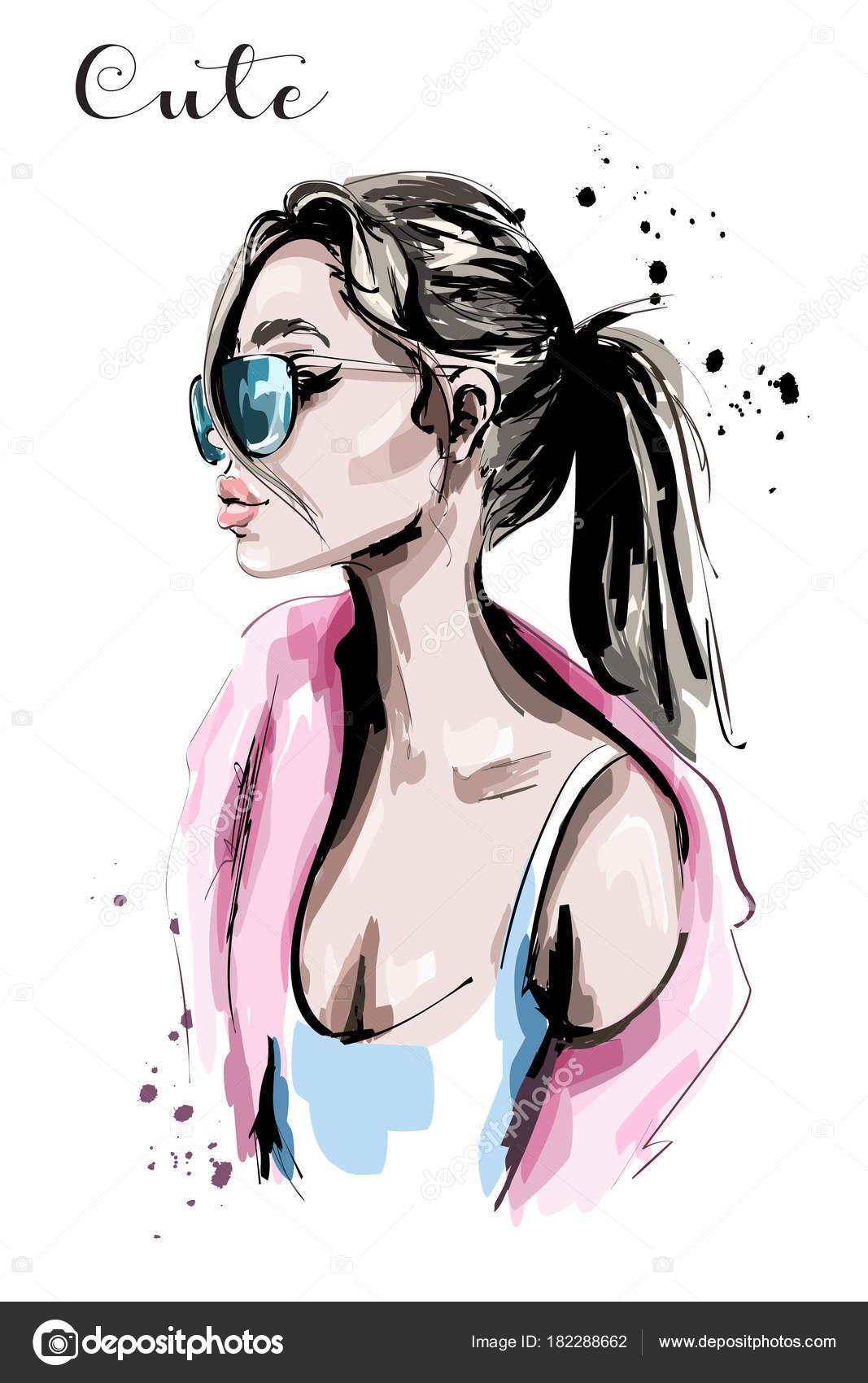 красивые картинки рисованные девушек