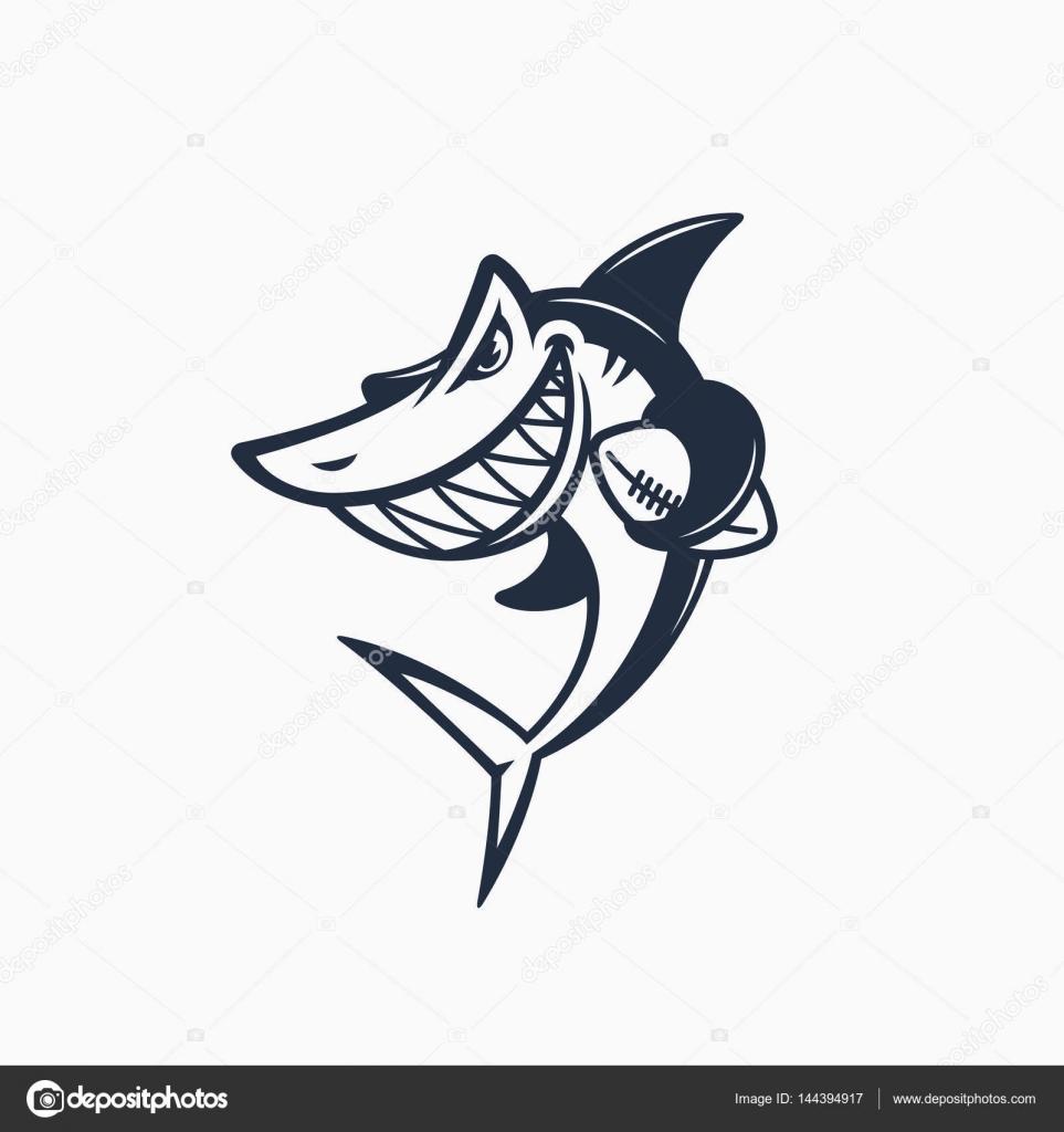 Plantilla de mascota tiburón — Vector de stock © jazzzzzvector ...