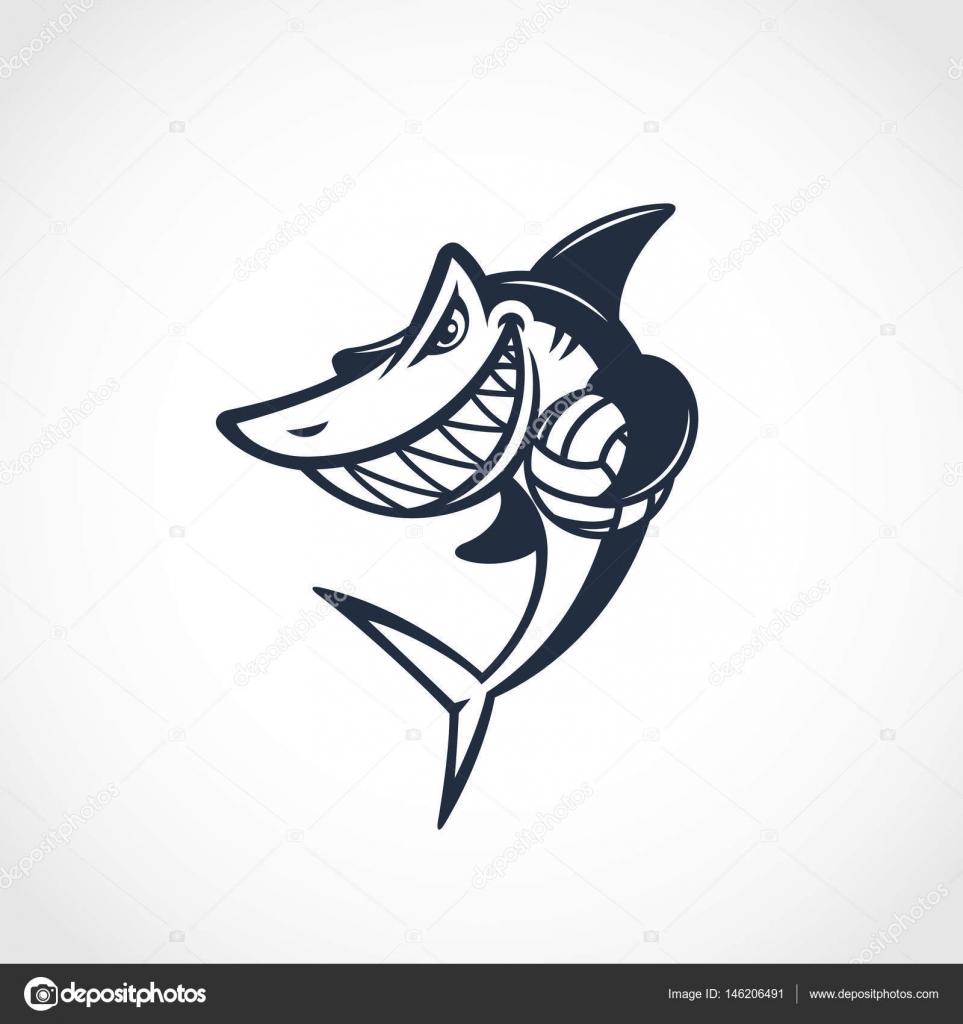 Shark mascot template — Stock Vector © jazzzzzvector #146206491