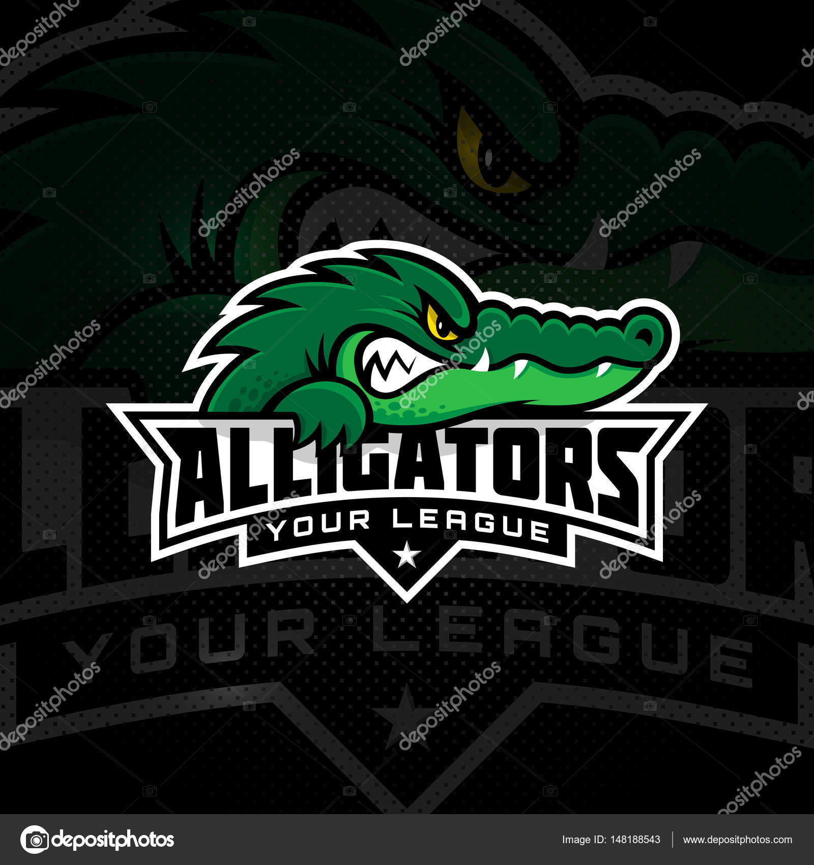 crocodile mascot template stock vector jazzzzzvector 148188543