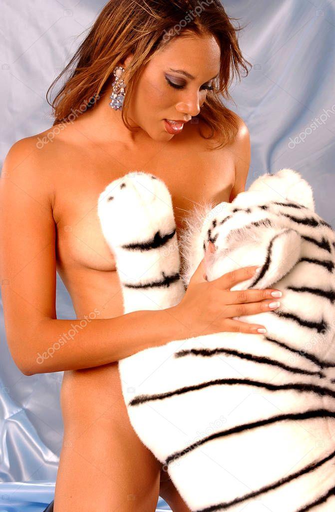 Stunning Eyed Brunette White Tiger Teddy Bear