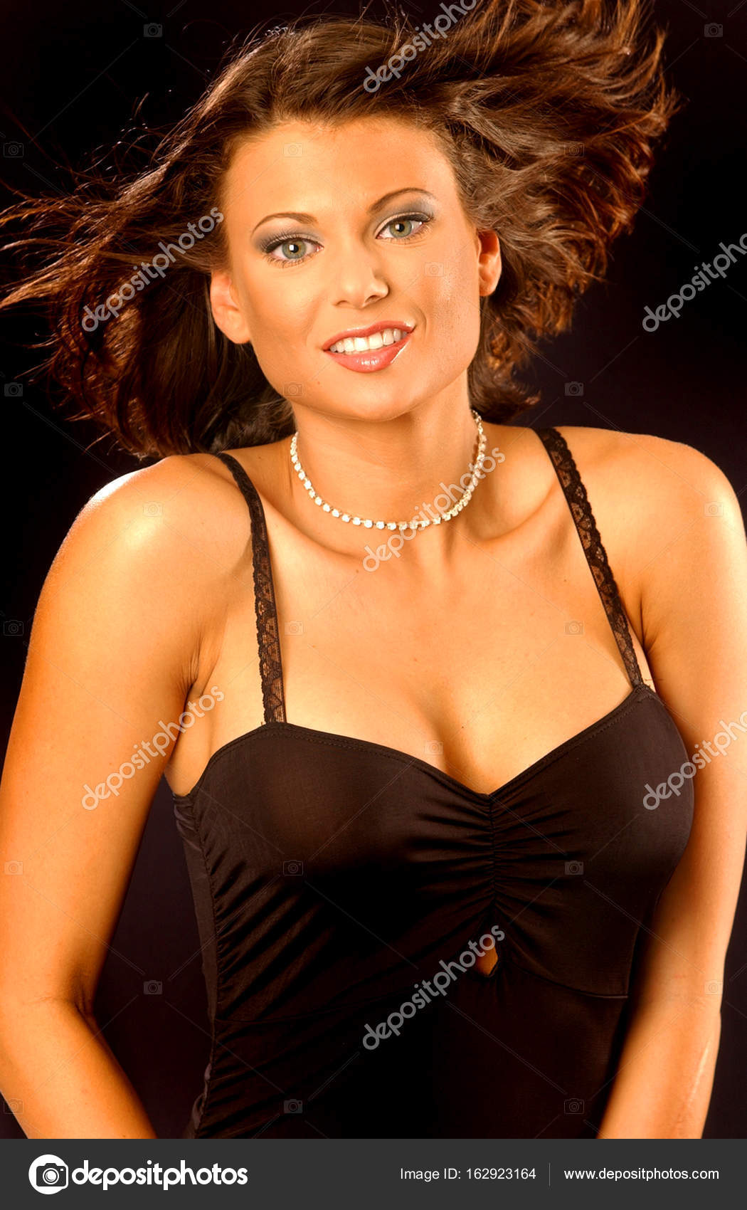 sexy schwarze Ebenholz-Teenager