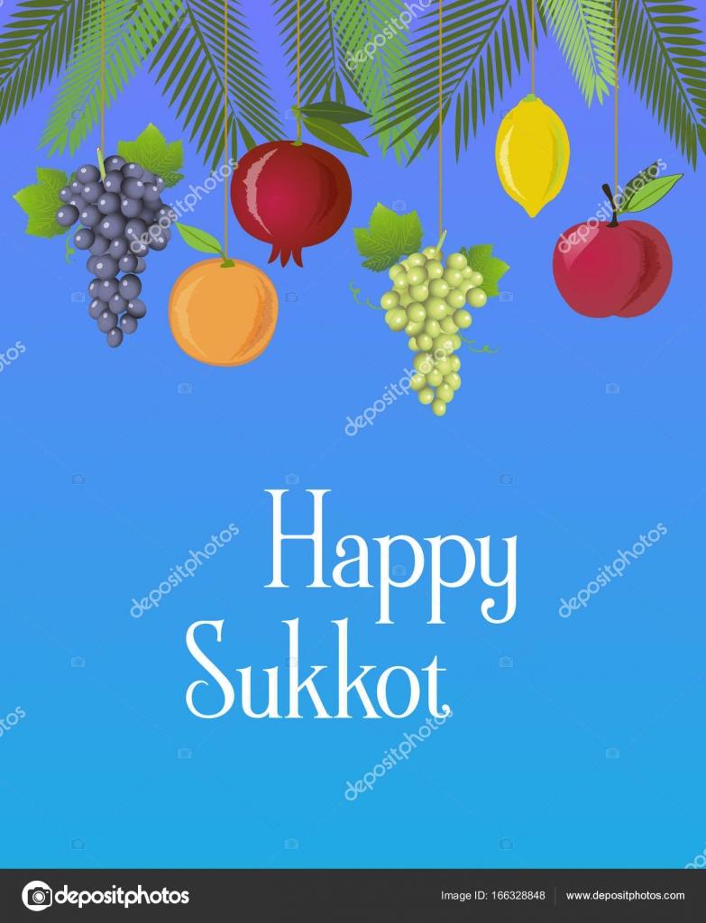 Sukkot festival greeting card design vector template stock vector sukkot festival greeting card design vector template stock vector m4hsunfo