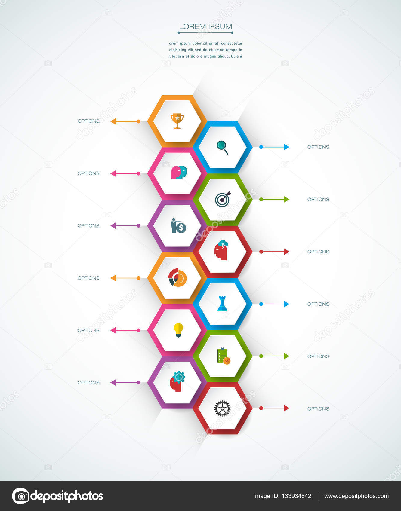 Vector infographic timeline template business concept with options vector infographic timeline template business concept with options stock vector wajeb Images