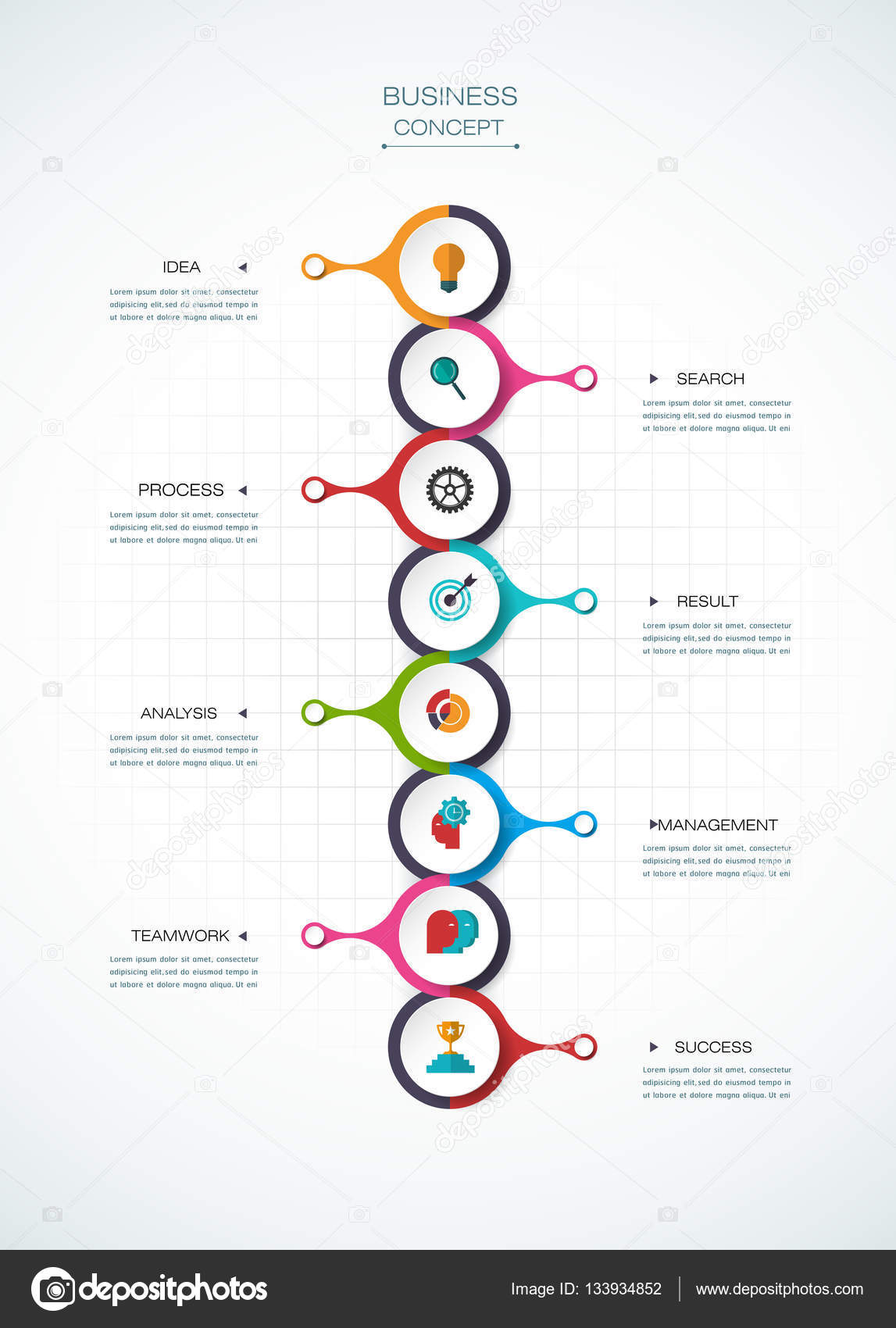 Vector infographic timeline template business concept with options vector infographic template with 3d paper label integrated circles business concept with options for content diagram flowchart steps parts fbccfo Choice Image