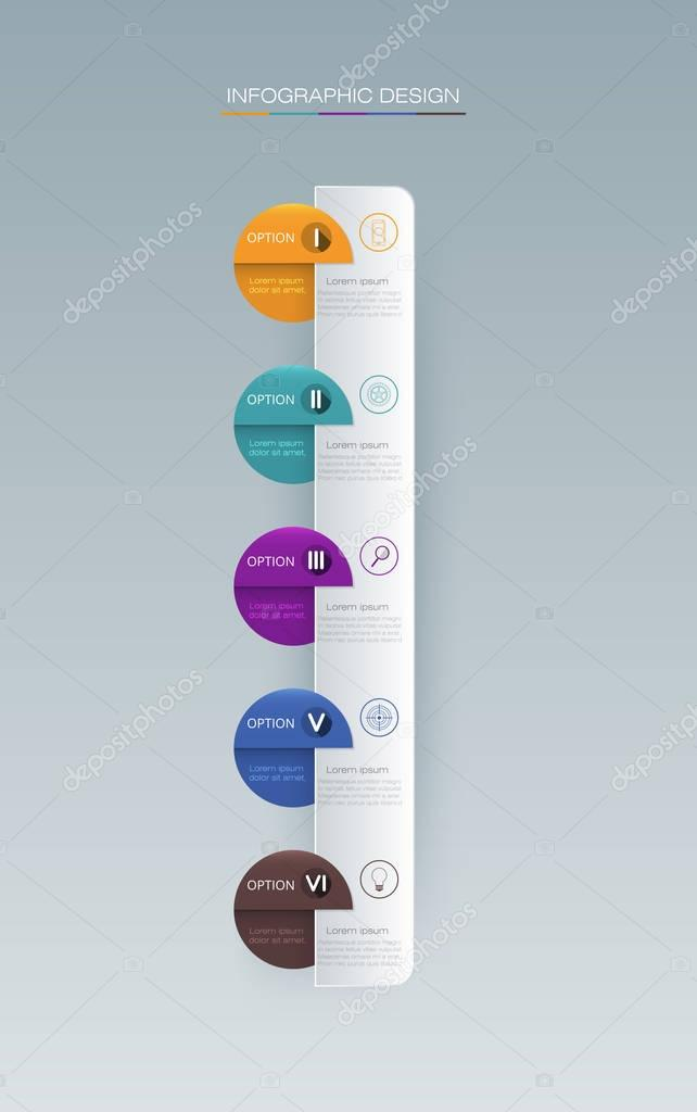 Vector Infographic label design with icons and 5 options or steps
