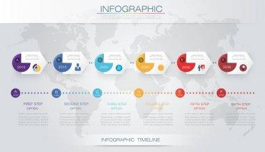 Vector infographics timeline design template