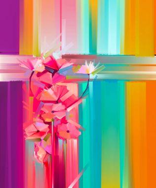"""Картина, постер, плакат, фотообои """"абстрактная живопись весенним цветом """", артикул 158040470"""