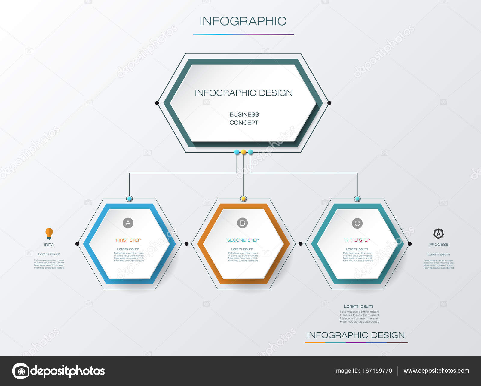 Vector Infographics Timeline Design Template With Label Design And - Timeline design template