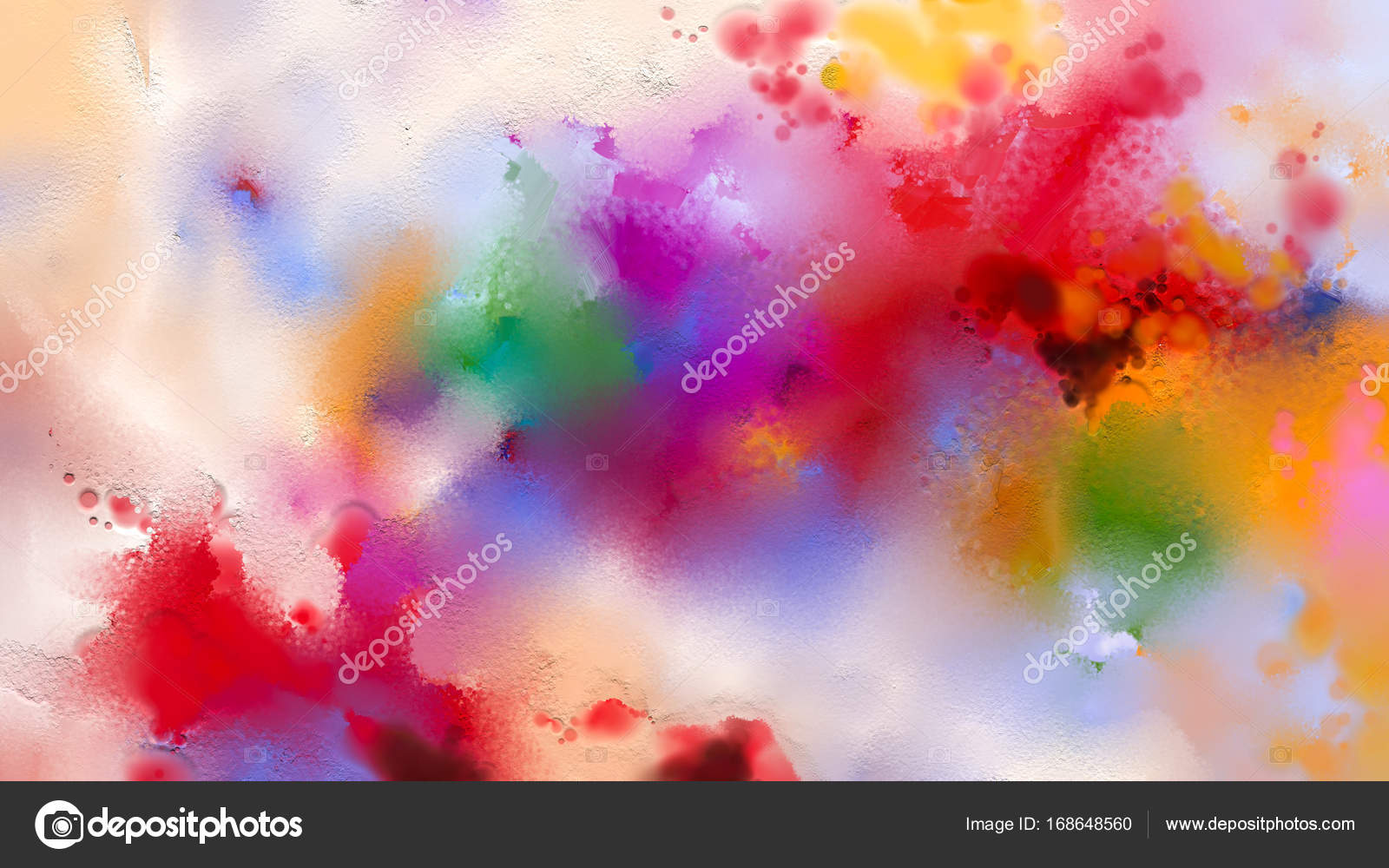 Abstract Colorful Oil Painting On Canvas Texture Hand Drawn Brush Stroke Color Paintings