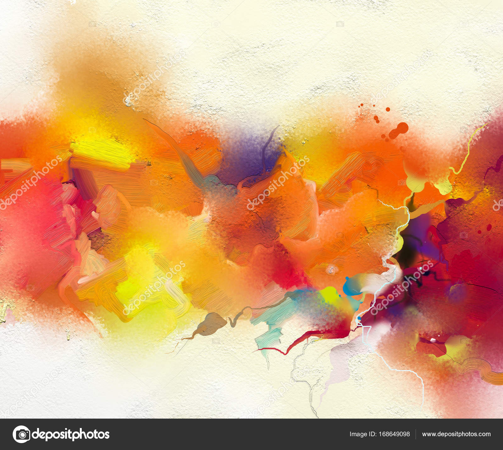 Flower Oil Paintings Abstract