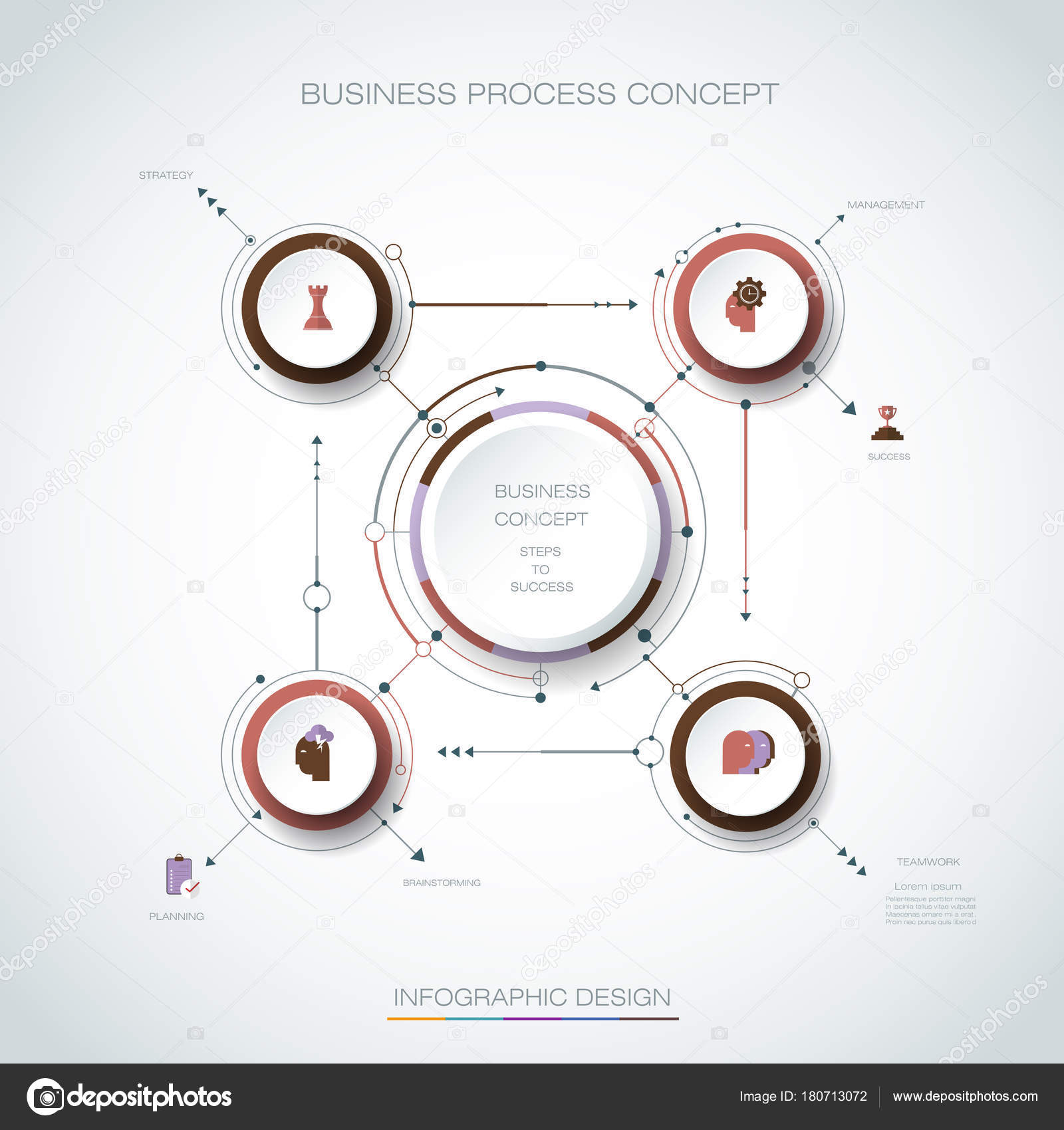 Vector Infographic 3d circle label, template design  Business