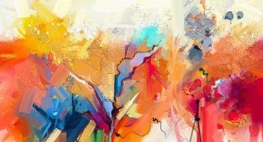 """Картина, постер, плакат, фотообои """"абстрактная красочная живопись маслом на холсте. ручной штрих кисти, картины с маслом . картина пейзаж живопись все"""", артикул 188548474"""