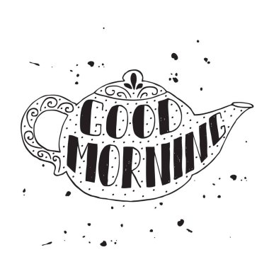Good morning modern lettering poster