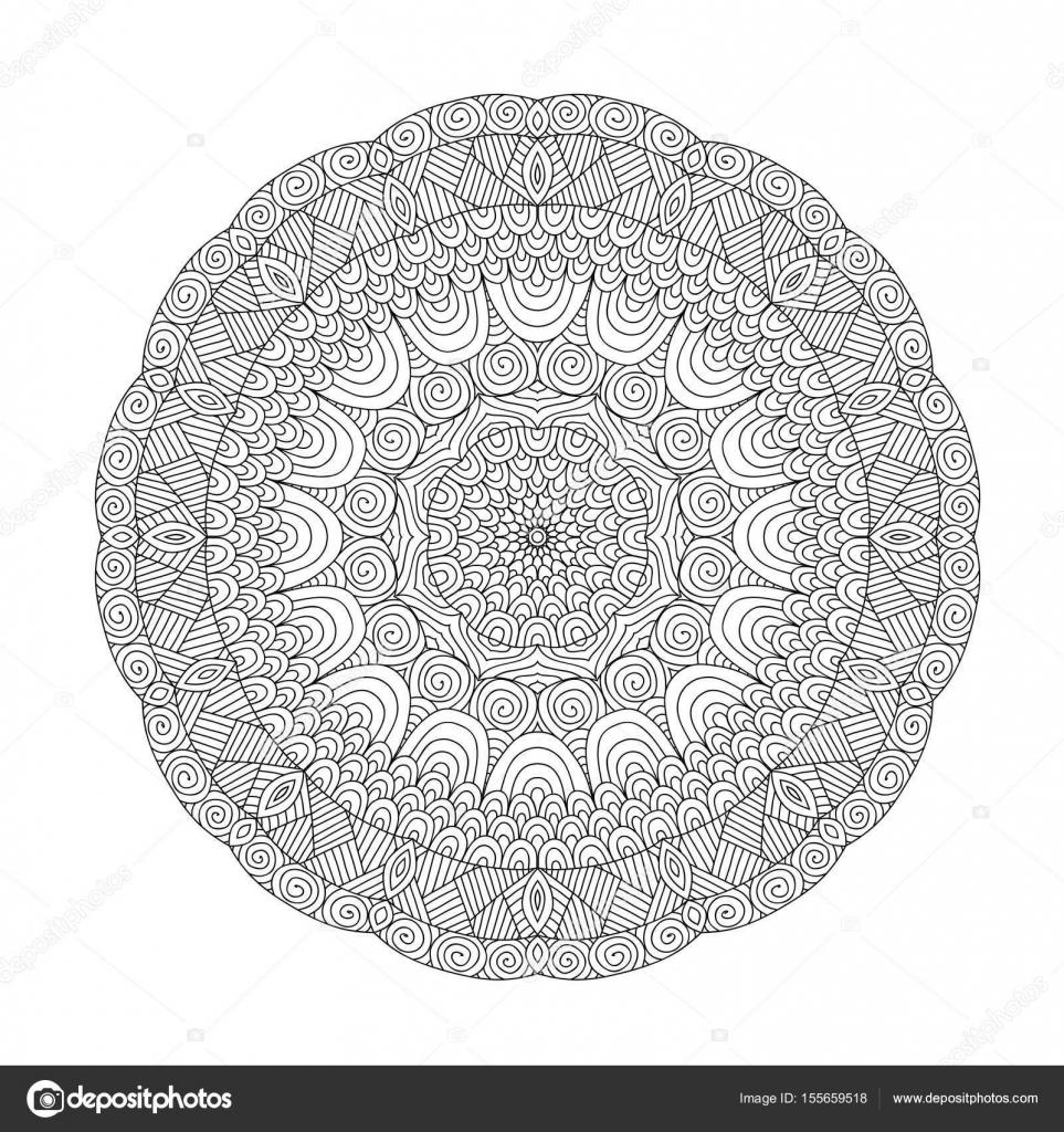 Mandala Boyama Kitabı Yetişkinler Için Stok Vektör Jly19 155659518
